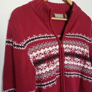 Sweaters - 4 for $25 red zip up holiday sweater jacket
